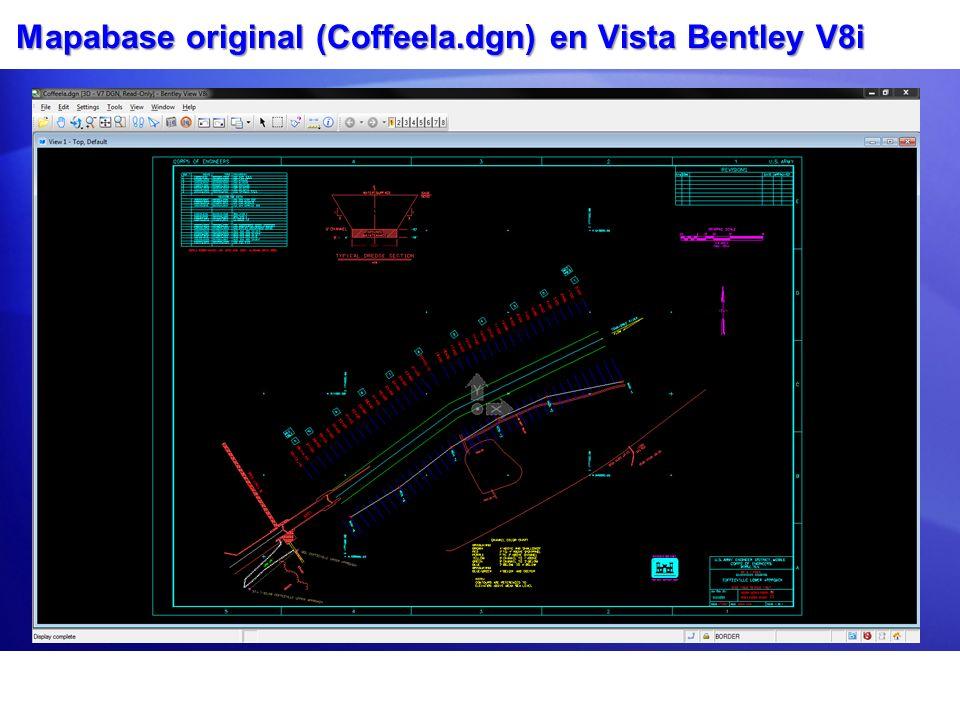 Mapabase original (Coffeela.dgn) en Vista Bentley V8i