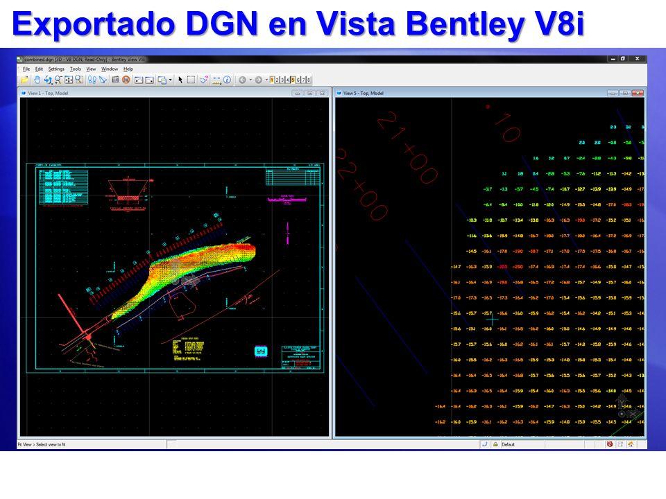 Exportado DGN en Vista Bentley V8i