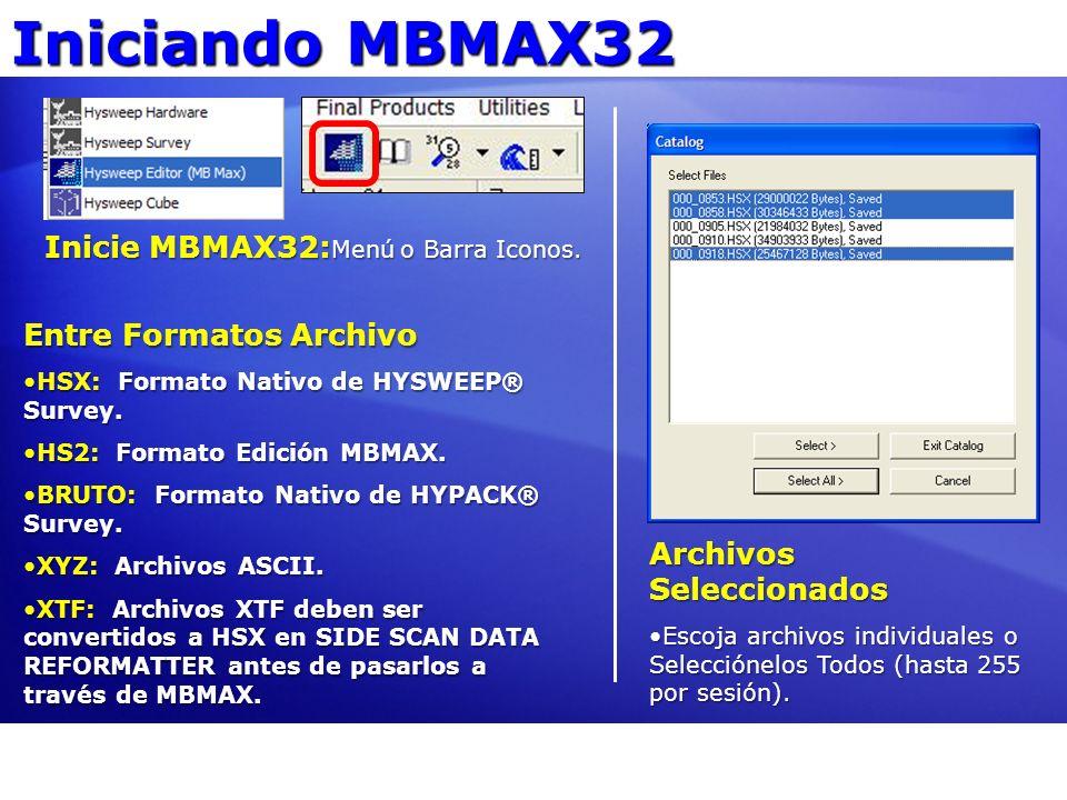 Iniciando MBMAX32 Opciones Abrir Procese en modo Prof.