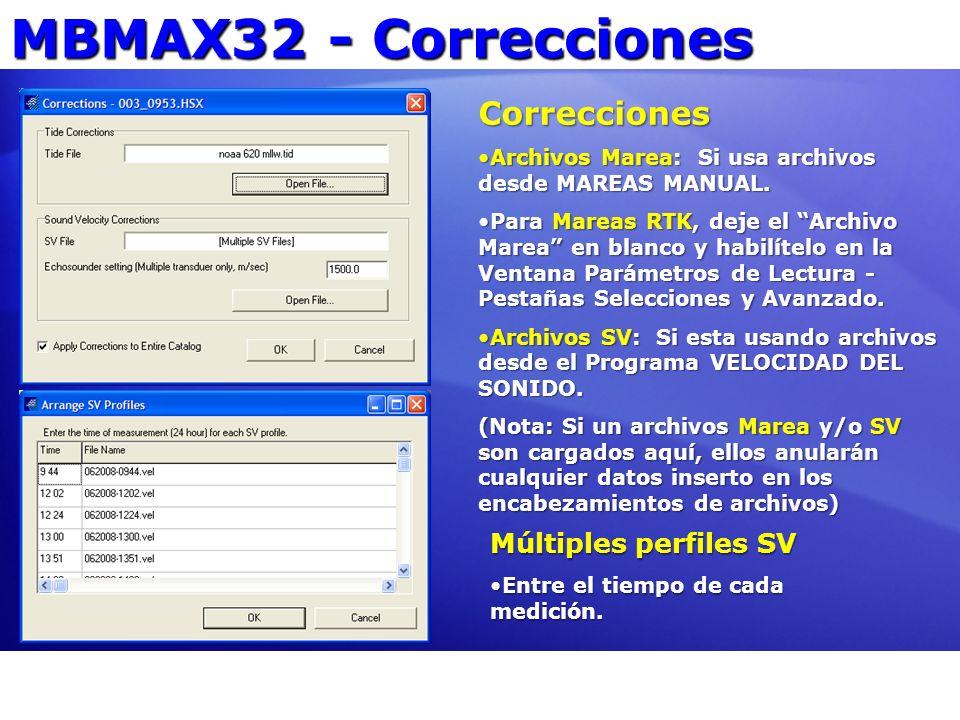 Ejemplos Salvar Salve XY, SV: Mapa SV Superficial Use SV superficial colectada por el sistema Multihaz.Use SV superficial colectada por el sistema Multihaz.
