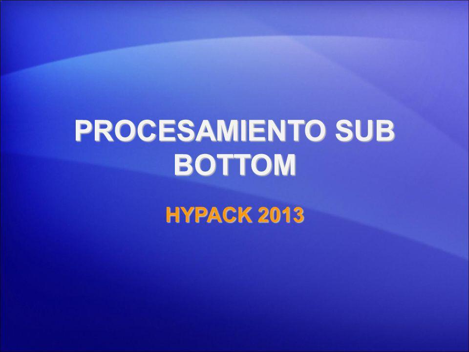 PROCESAMIENTO SUB-BOTTOM: SBD Localizado bajo Utilidades.