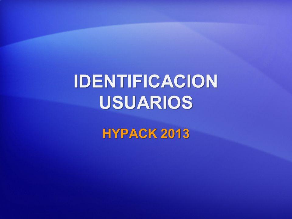 IDENTIFICACION USUARIOS HYPACK 2013