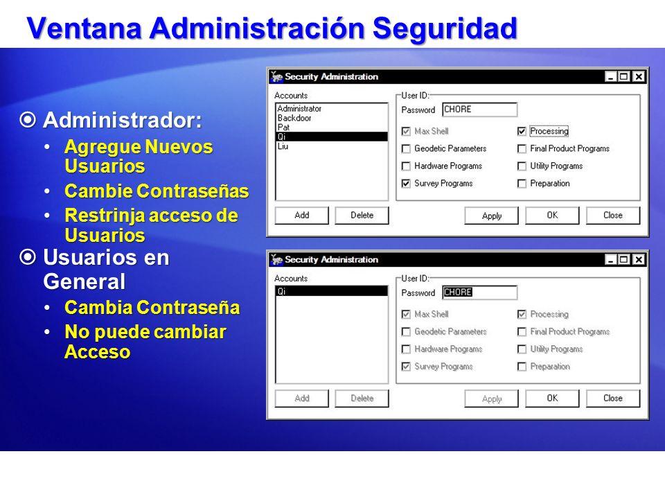 Agregando un Usuario Nuevo Sólo el Administrador puede agregar un nuevo usuario.