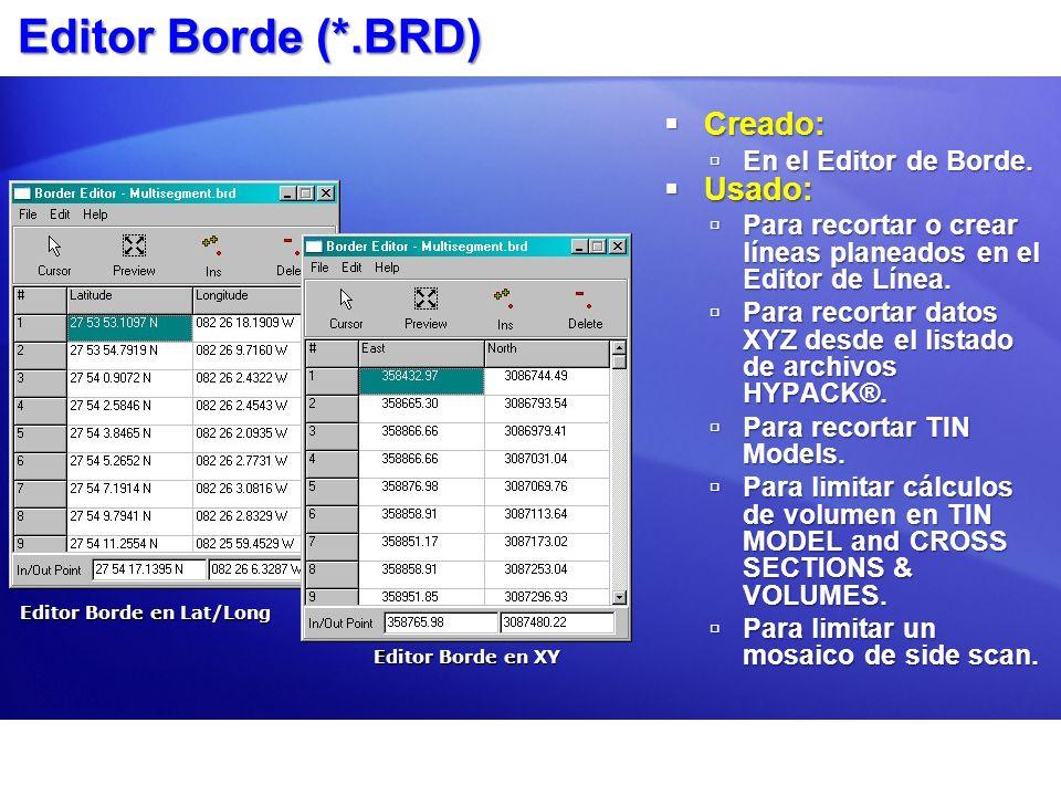 Editor Borde (*.BRD) Creado: Creado: En el Editor de Borde.