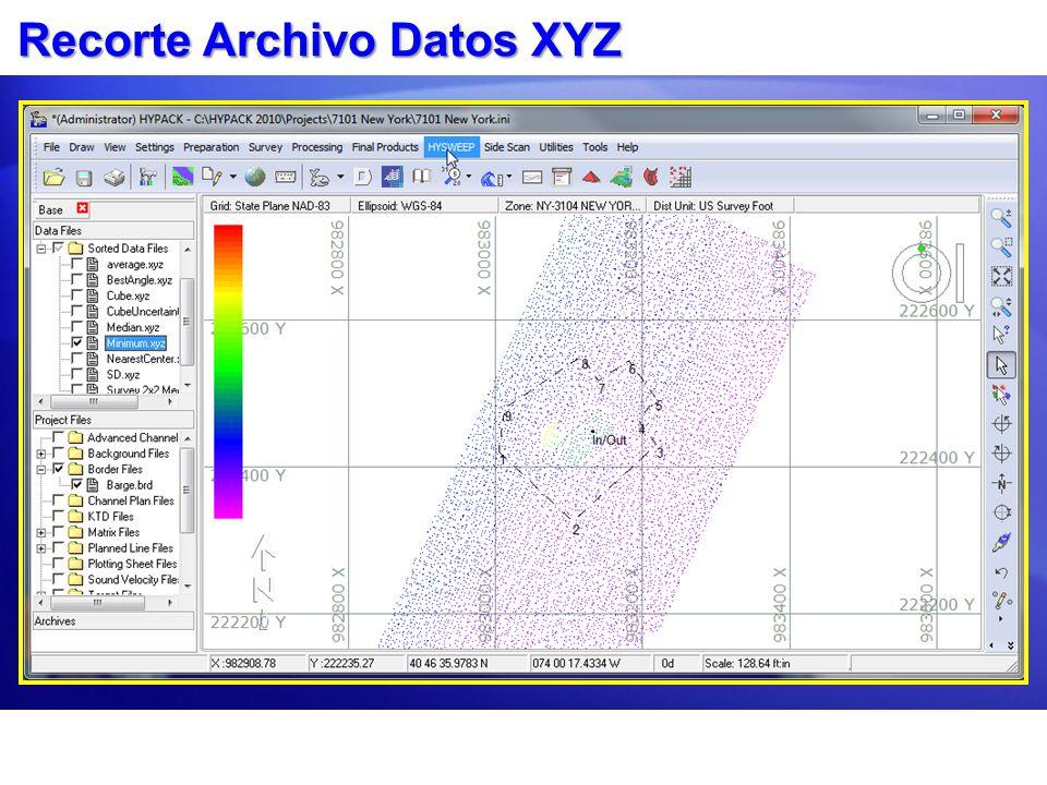 Recorte Archivo Datos XYZ