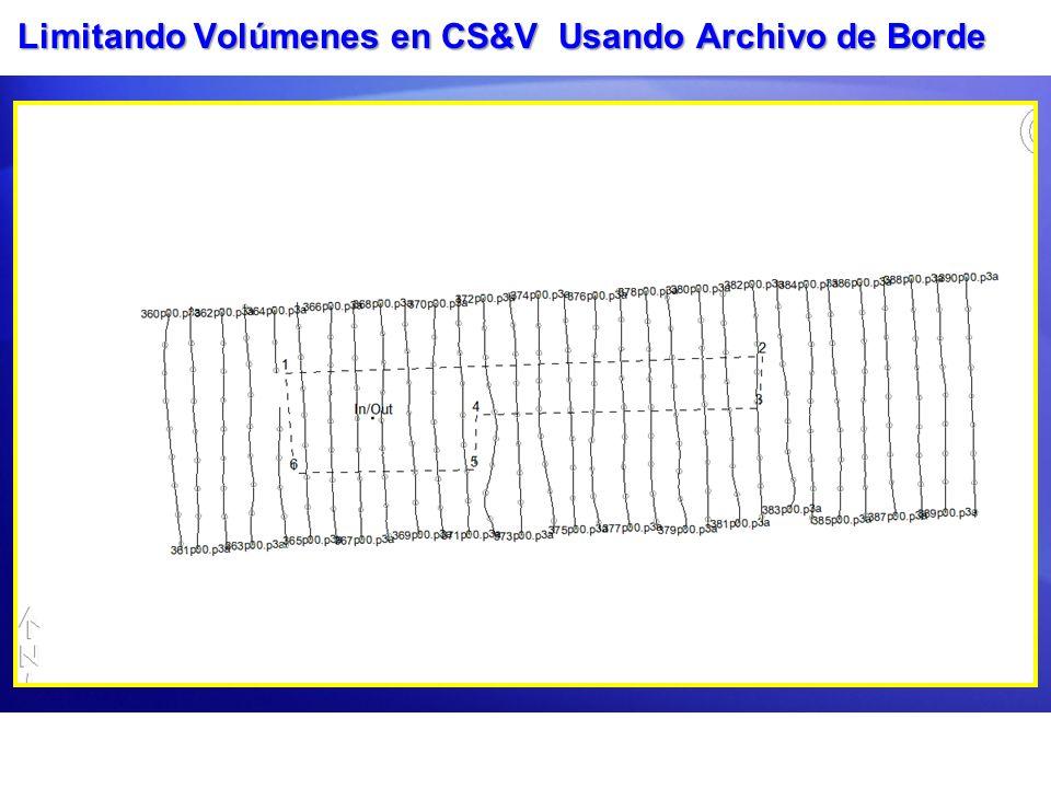 Limitando Volúmenes en CS&V Usando Archivo de Borde