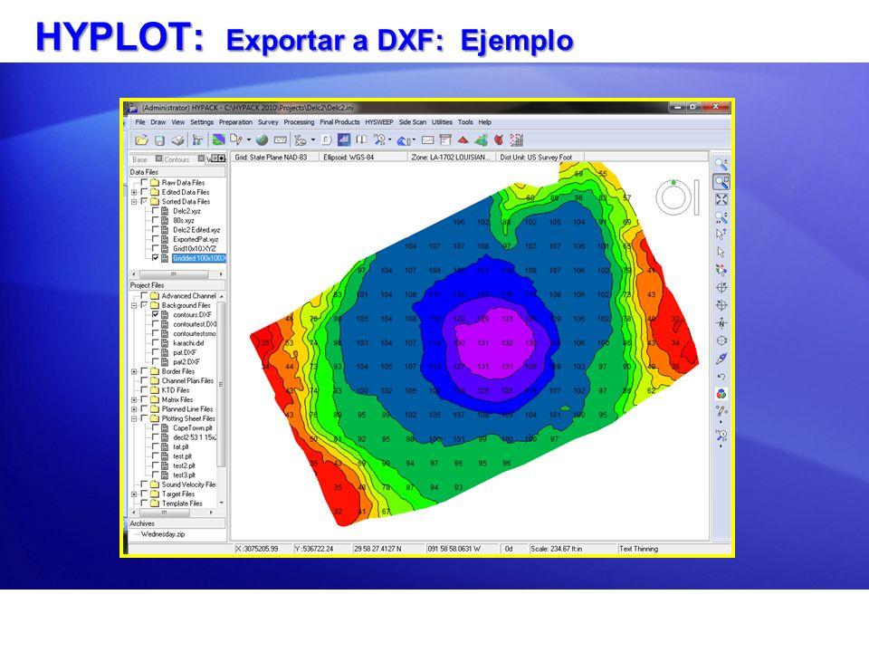 HYPLOT: Resultados Exportar a DXF en ACAD LITE