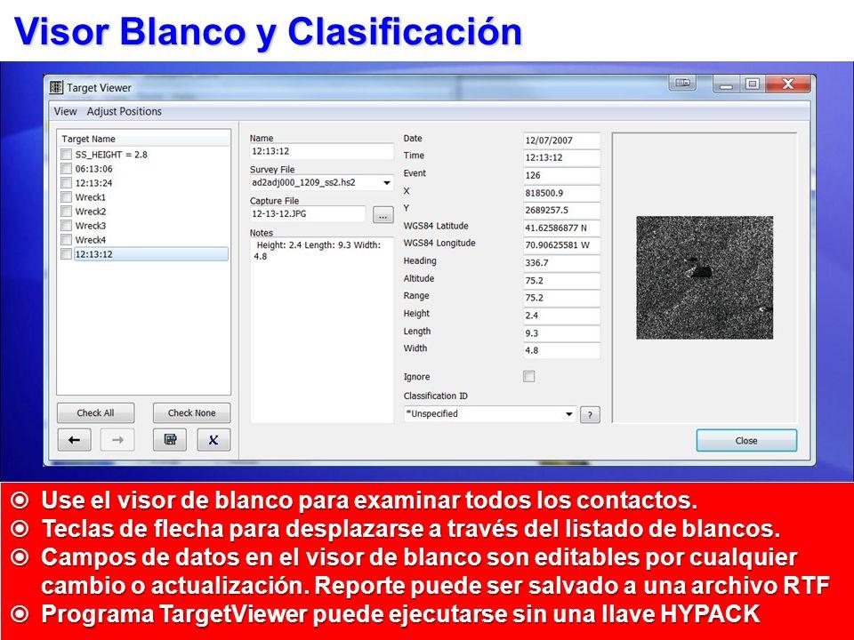 Visor Blanco y Clasificación Use el visor de blanco para examinar todos los contactos. Use el visor de blanco para examinar todos los contactos. Tecla