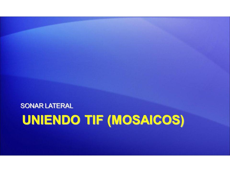 UNIENDO TIF (MOSAICOS) SONAR LATERAL