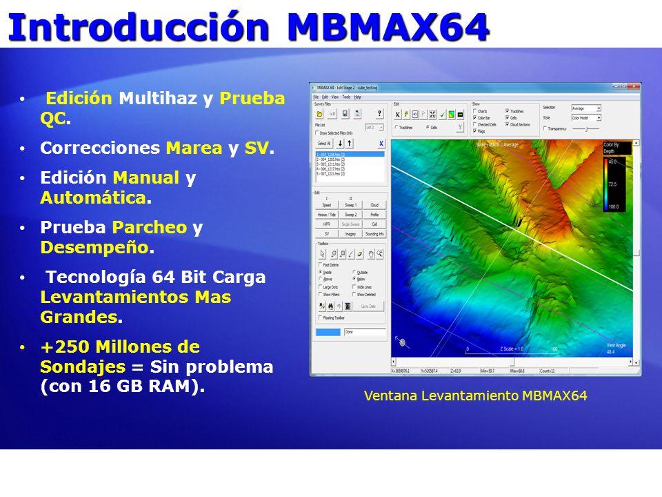 Introducción MBMAX64 Edición Multihaz y Prueba QC. Correcciones Marea y SV. Edición Manual y Automática. Prueba Parcheo y Desempeño. Tecnología 64 Bit