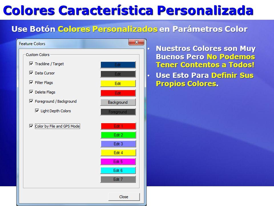 Colores Característica Personalizada Use Botón Colores Personalizados en Parámetros Color Nuestros Colores son Muy Buenos Pero No Podemos Tener Conten