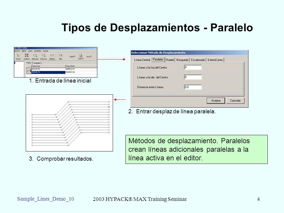 2003 HYPACK® MAX Training Seminar4 Sample_Lines_Demo_10 Tipos de Desplazamientos - Paralelo 1.