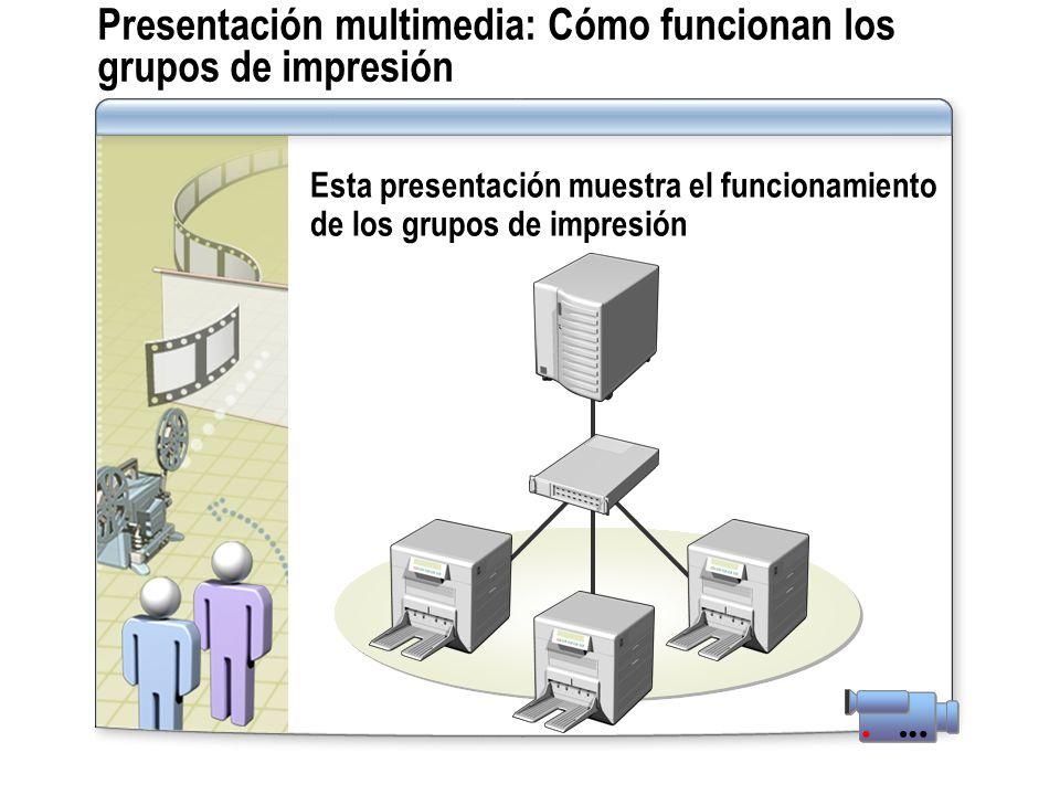 Presentación multimedia: Cómo funcionan los grupos de impresión Esta presentación muestra el funcionamiento de los grupos de impresión