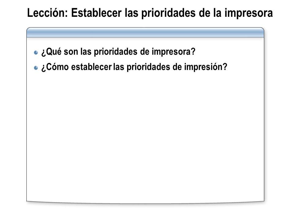 Lección: Establecer las prioridades de la impresora ¿Qué son las prioridades de impresora? ¿Cómo establecer las prioridades de impresión?