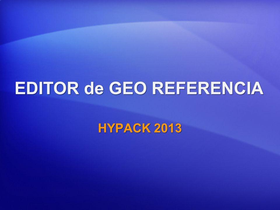 EDITOR de GEO REFERENCIA HYPACK 2013