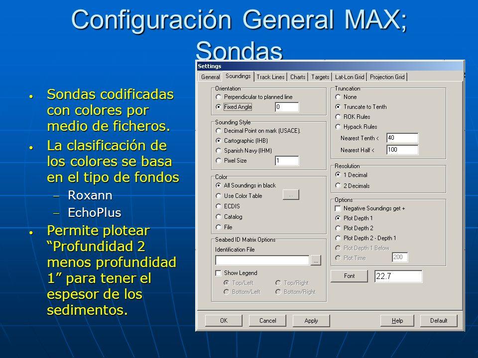 Configuración General MAX; Sondas Sondas codificadas con colores por medio de ficheros. Sondas codificadas con colores por medio de ficheros. La clasi