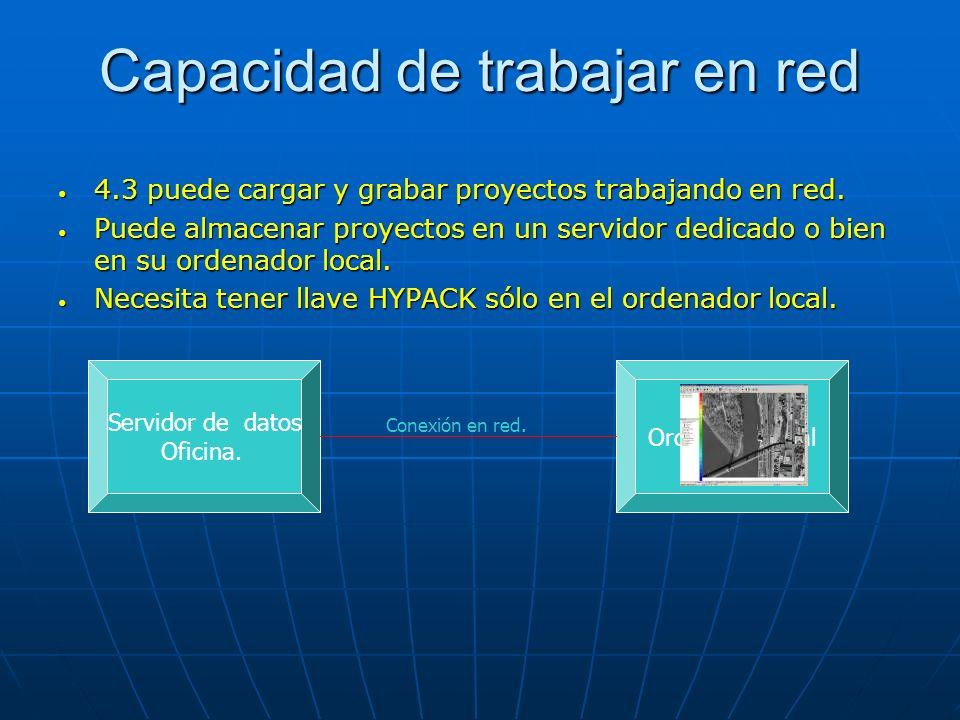 Capacidad de trabajar en red 4.3 puede cargar y grabar proyectos trabajando en red. 4.3 puede cargar y grabar proyectos trabajando en red. Puede almac