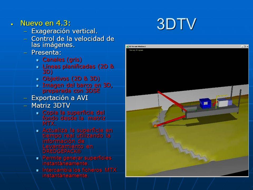 3DTV Nuevo en 4.3: Nuevo en 4.3: Exageración vertical.Exageración vertical. Control de la velocidad de las imágenes.Control de la velocidad de las imá