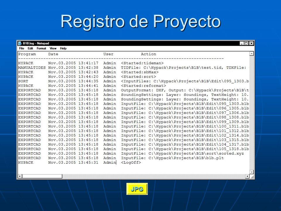 Registro de Proyecto Maintains a history in each project of: Maintains a history in each project of: Who launched each program?Who launched each progr