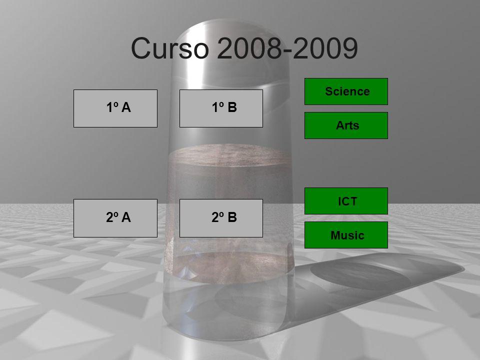 1º Curso 2008-2009 1º A 1º 1º B Science Arts 1º 2º A 1º 2º B ICT Music