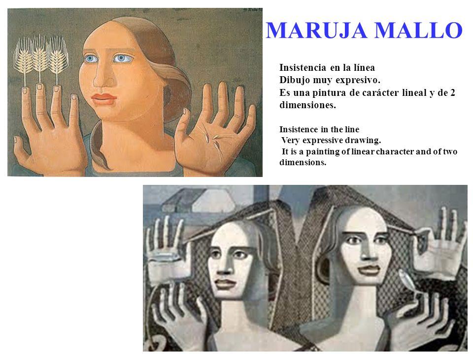 MARUJA MALLO Insistencia en la línea Dibujo muy expresivo.