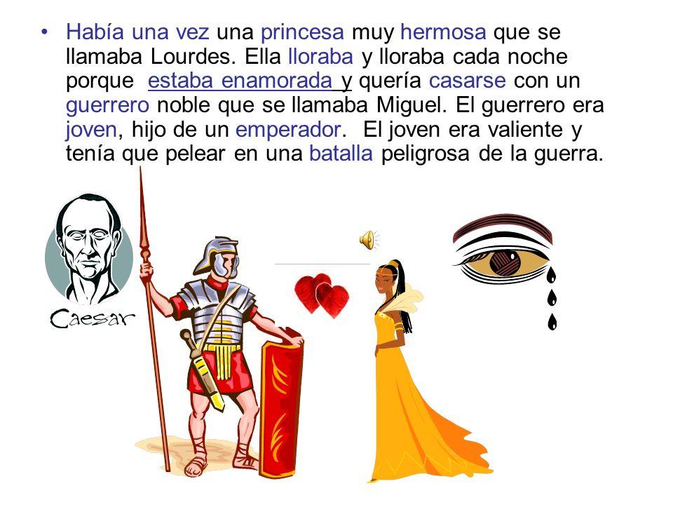 La princesa se dio cuenta de que un enemigo que estaba enamorada de ella quería matar a Miguel.