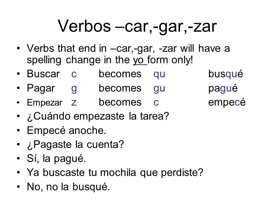 Verbos de i a y Verbs such as leer and construir change the i to y in the él/ella/usted and ellos/ellas/ustedes forms of the preterite.