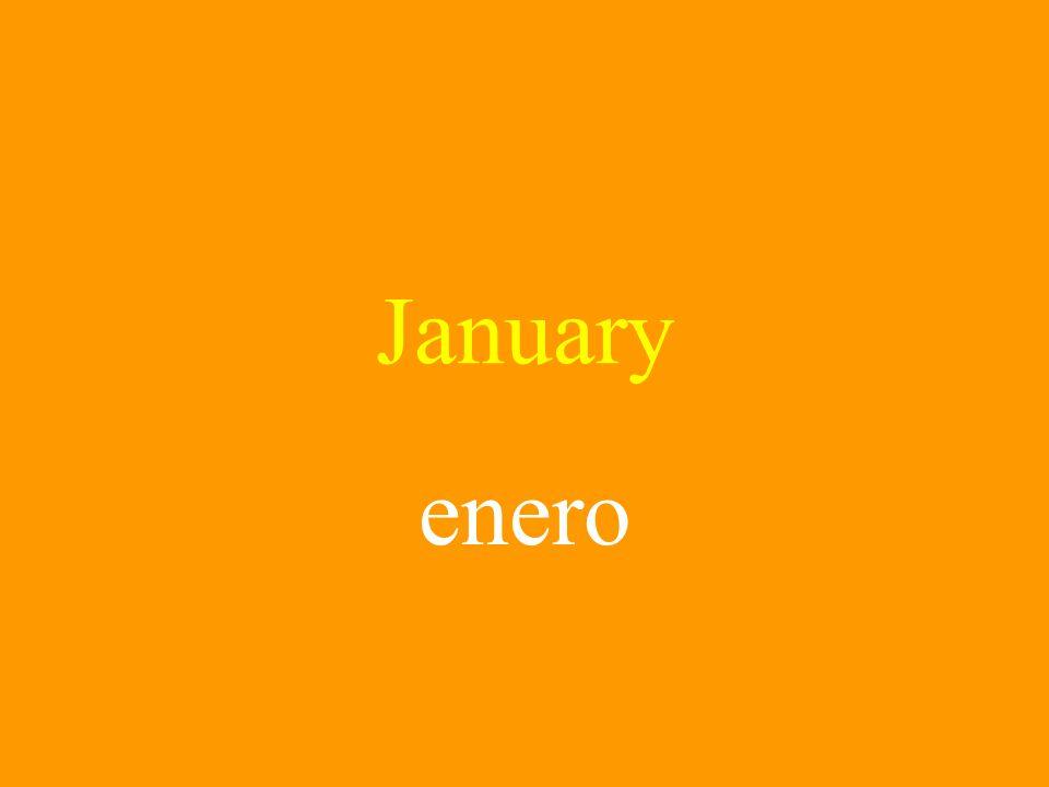 January enero
