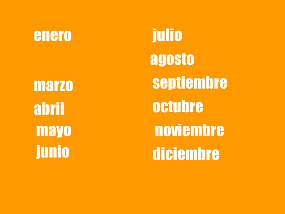 enero marzo abril mayo junio julio agosto septiembre octubre noviembre diciembre