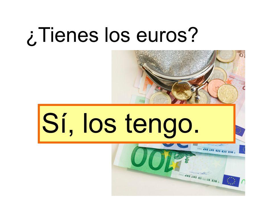 ¿Tienes los euros? Sí, los tengo.