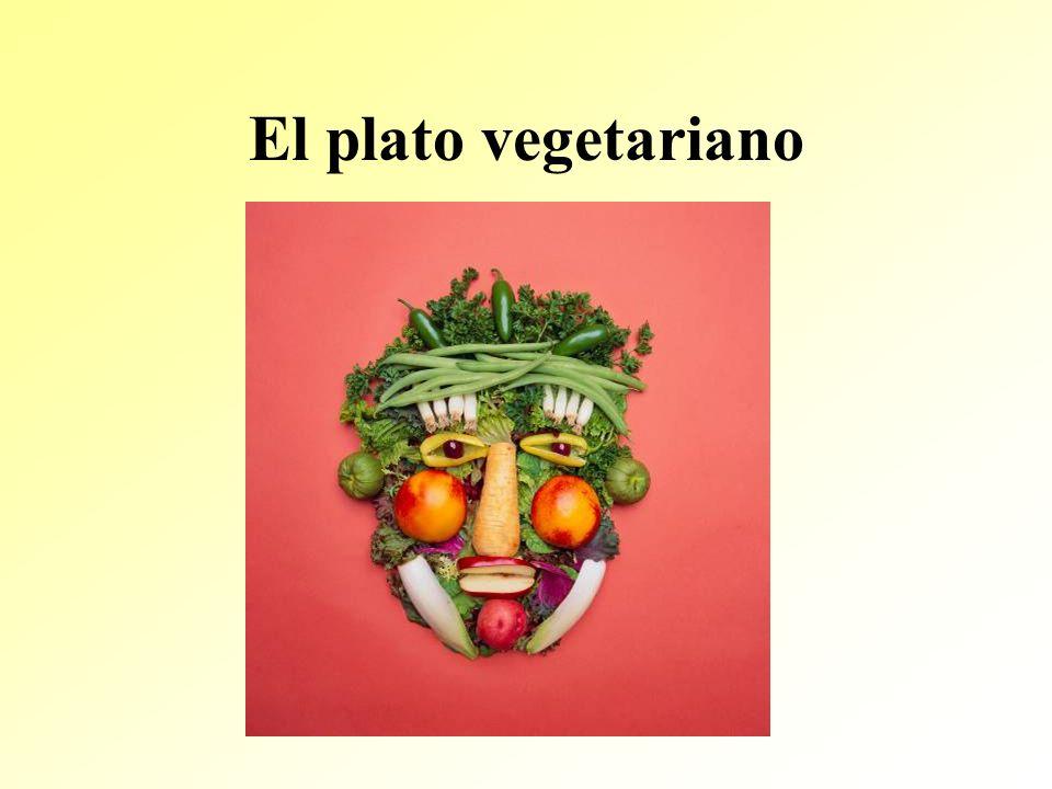 El plato vegetariano