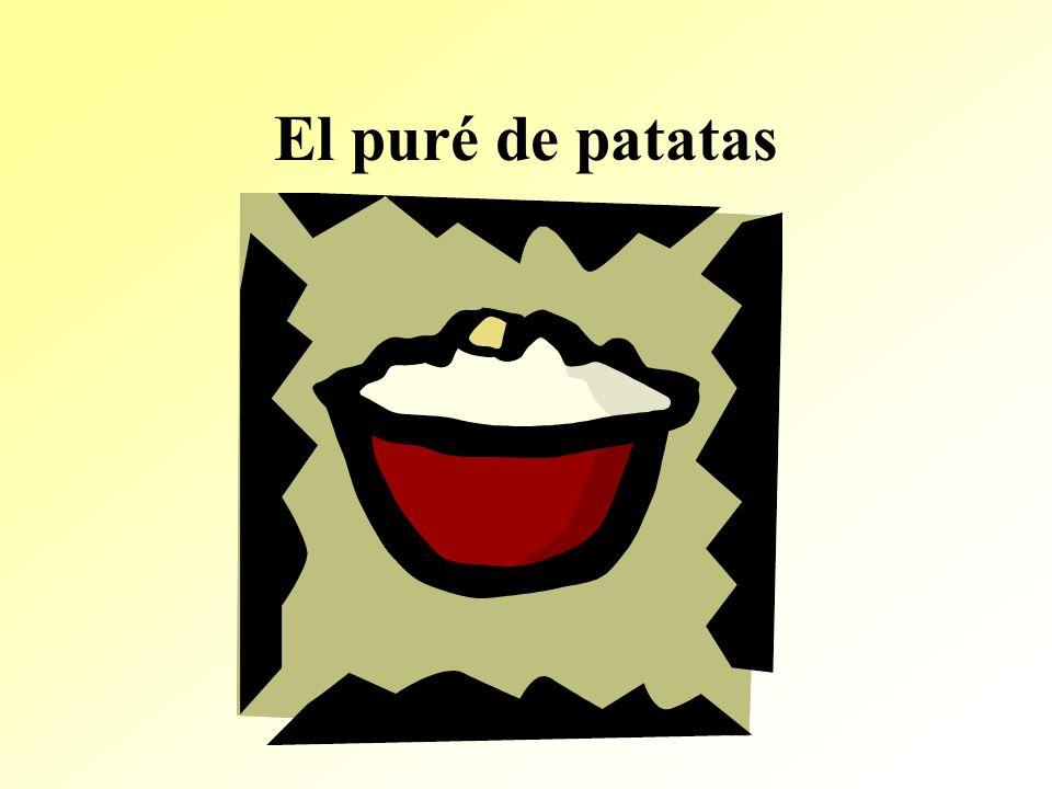 El puré de patatas