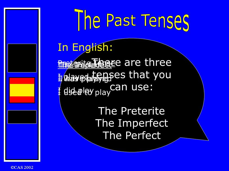 ©CAS 2002 Practice……… What are the past participles of these verbs .