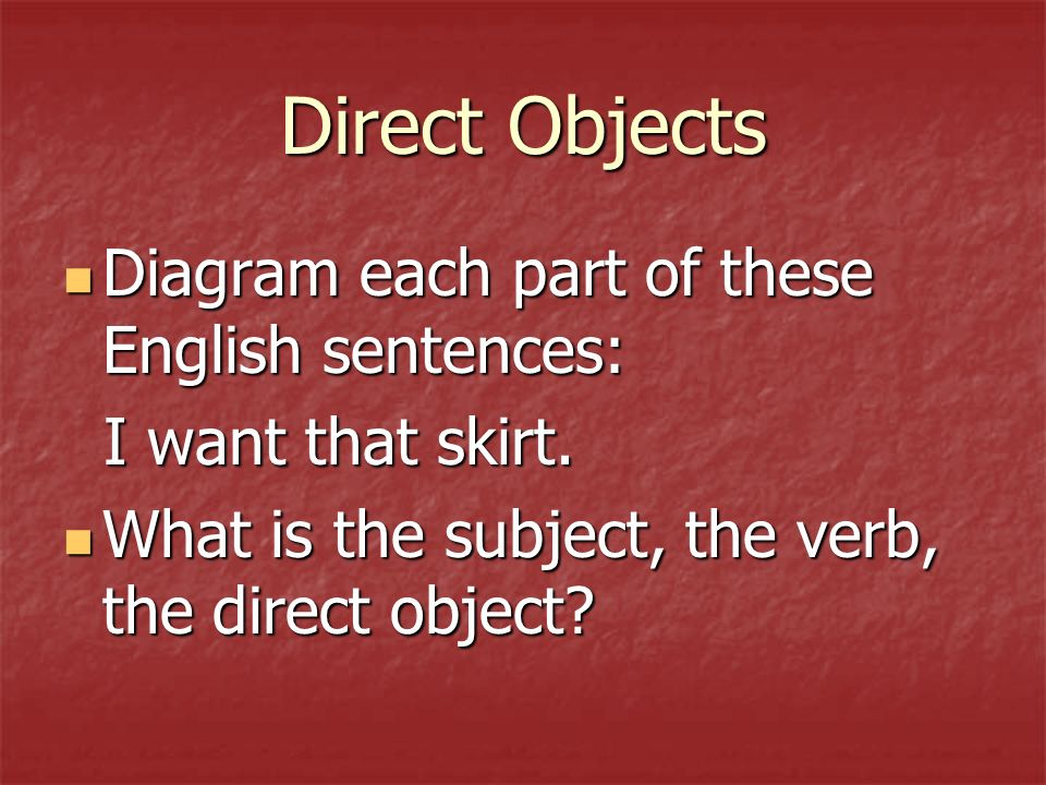 Direct Object Pronouns Objetos directos