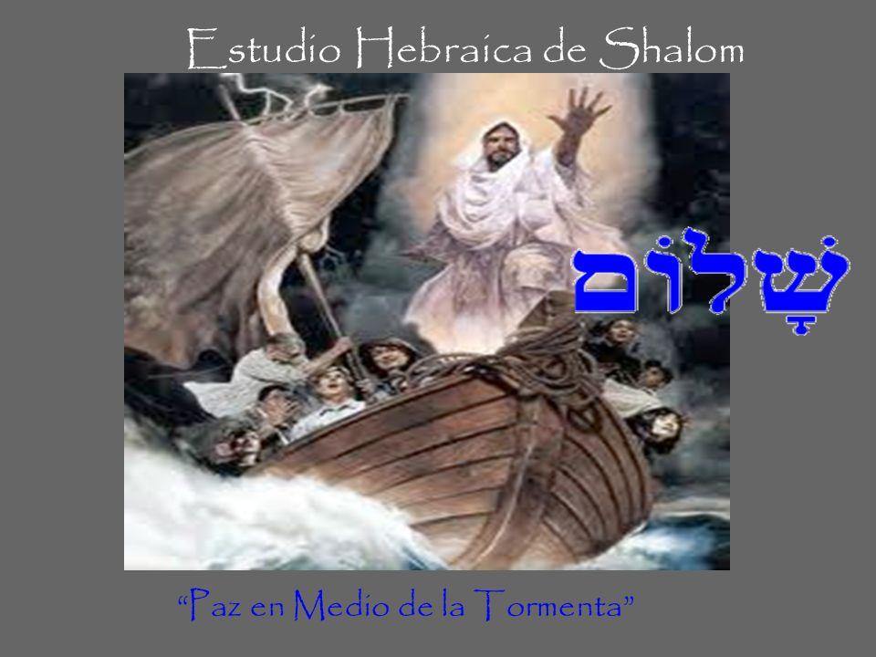 Estudio Hebraica de Shalom Paz en Medio de la Tormenta