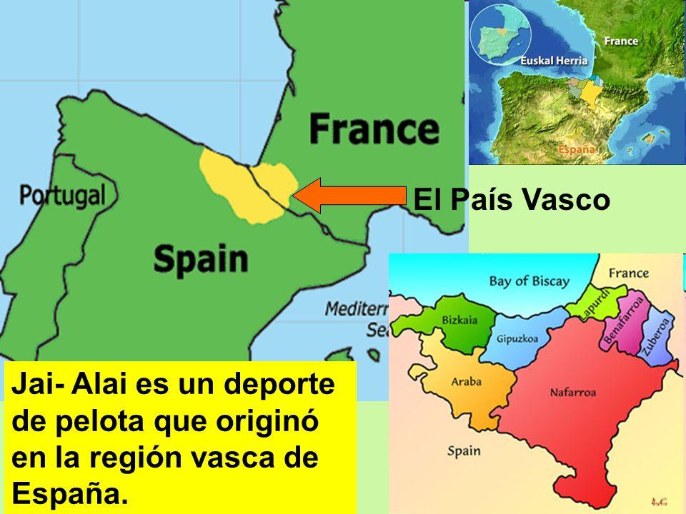 Jai- Alai es un deporte de pelota que originó en la región vasca de España. El País Vasco