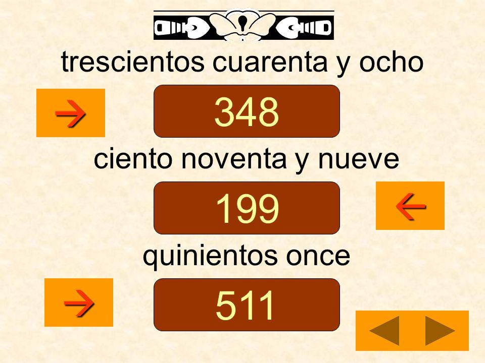 trescientos cuarenta y ocho ciento noventa y nueve quinientos once 348 199 511