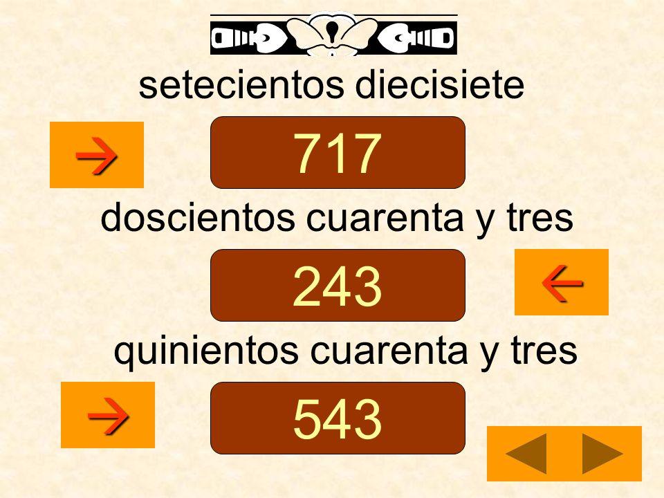 setecientos diecisiete doscientos cuarenta y tres quinientos cuarenta y tres 717 243 543