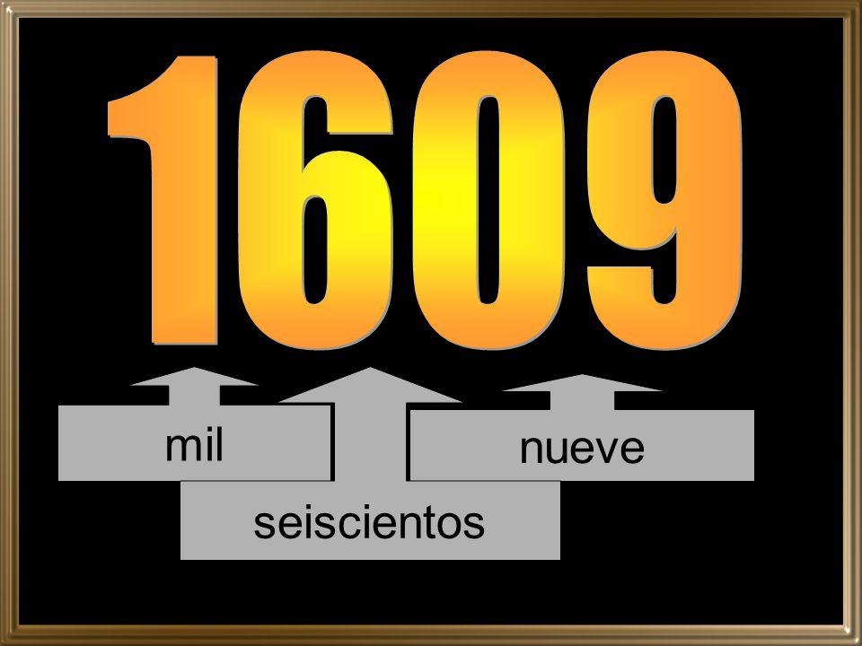 mil nueve seiscientos