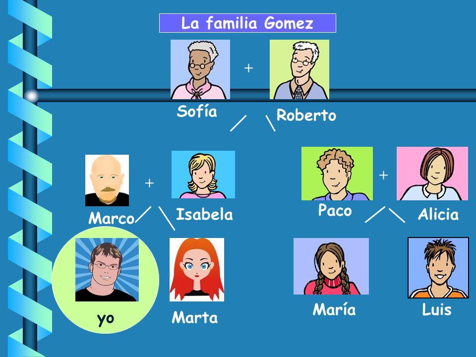 + Paco MaríaLuis AliciaIsabela Sofía Roberto La familia Gomez + JuanMarta + Marco