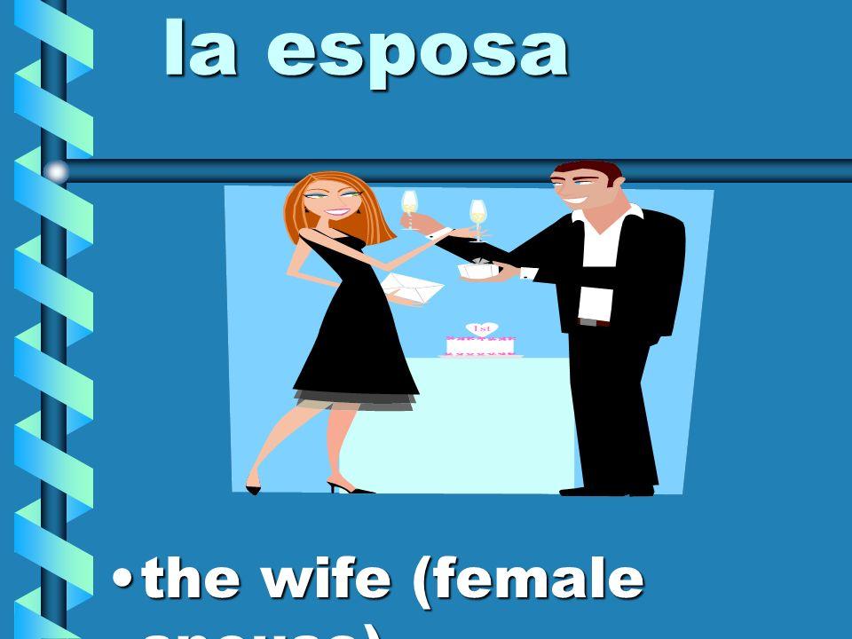 el esposo the husband (male spouse)the husband (male spouse)