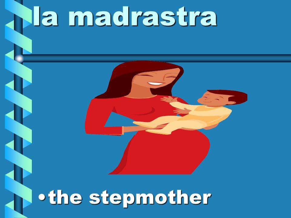 la madre (la mamá) the mother (mom)the mother (mom)