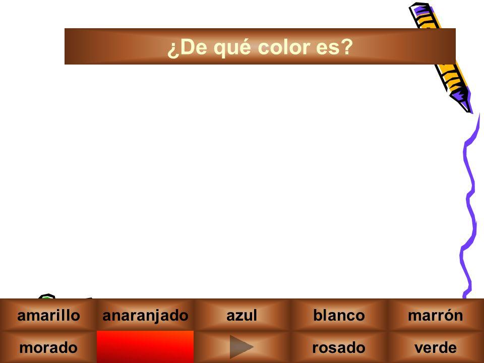 moradonegrorojoverde amarilloanaranjadoazulblancomarrón ¿De qué color es rosado