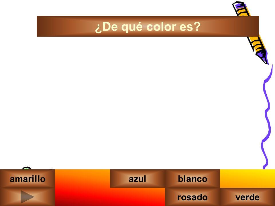 ¿De qué color es amarilloazul rosadoverde blanco morado