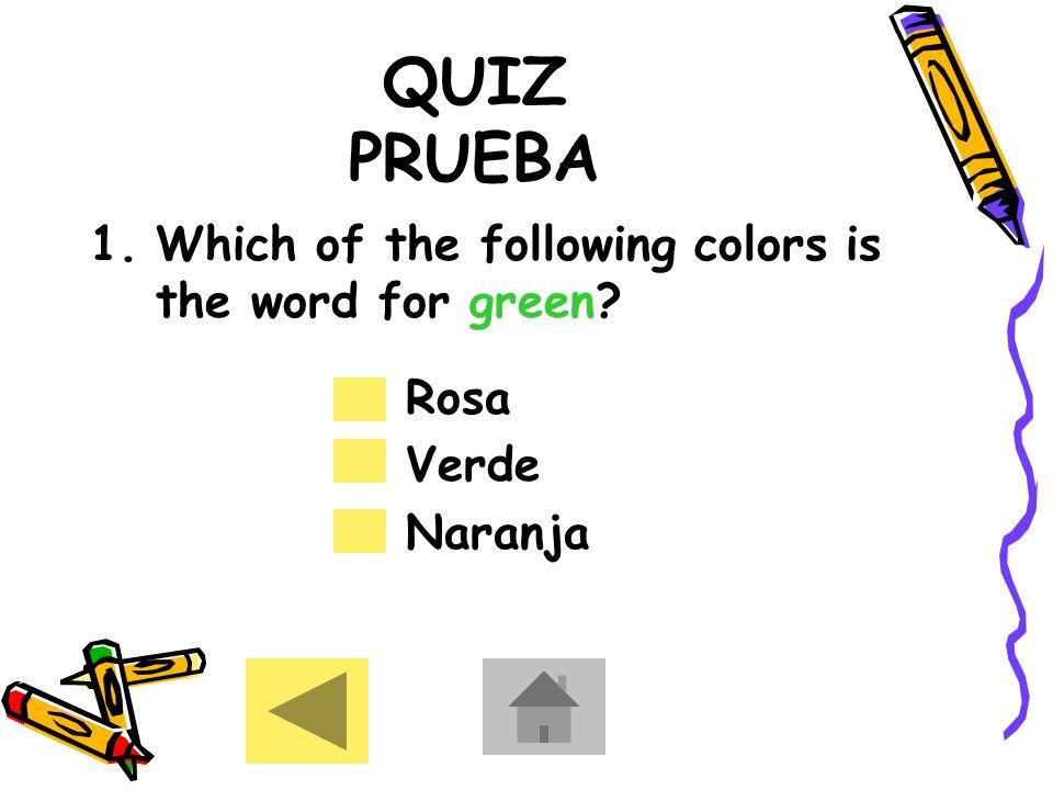REVIEW REPASO Purple Morado Uvas Pink Rosa Flamenco Grey Gris Elefante Brown Marrón Oso Black Negro Cuervo