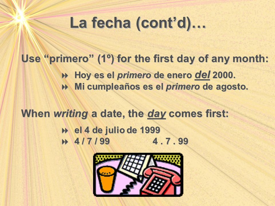 What is the date tomorrow? Tomorrow is… ¿Cuál es la fecha de maÑana? maÑana es …