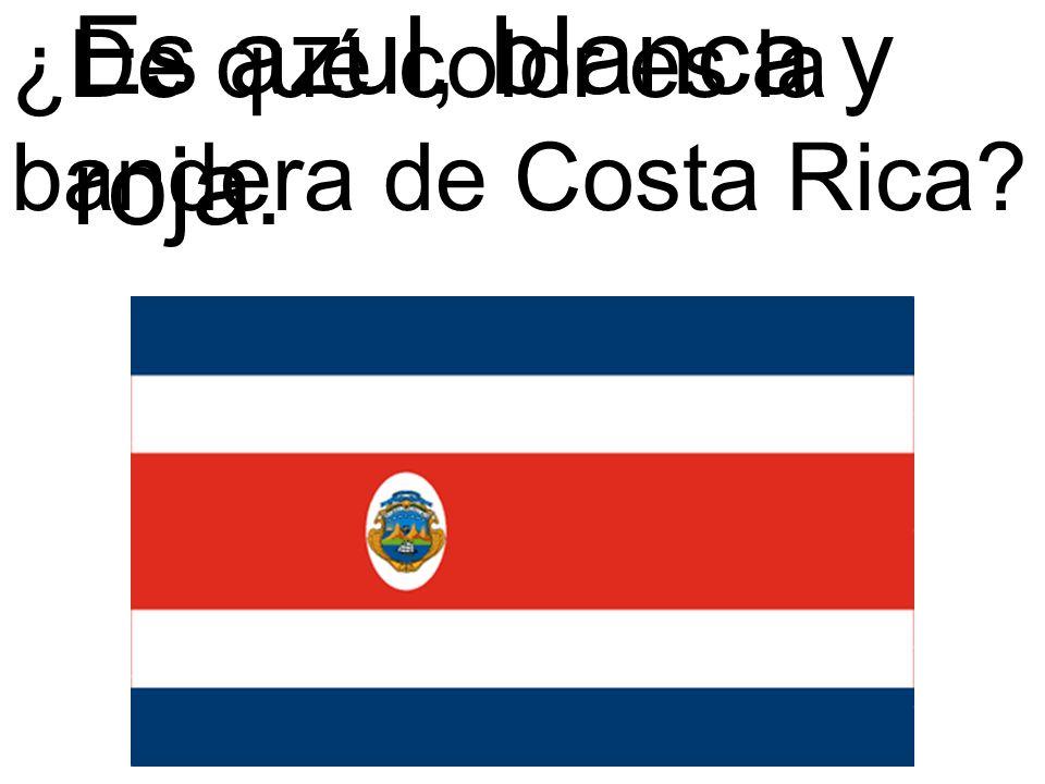 ¿De qué color es la bandera de Costa Rica? Es azul, blanca y roja.