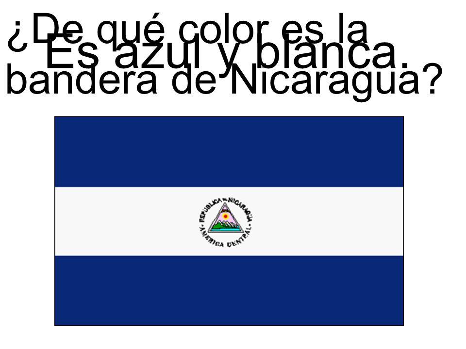 ¿De qué color es la bandera de Nicaragua? Es azul y blanca.