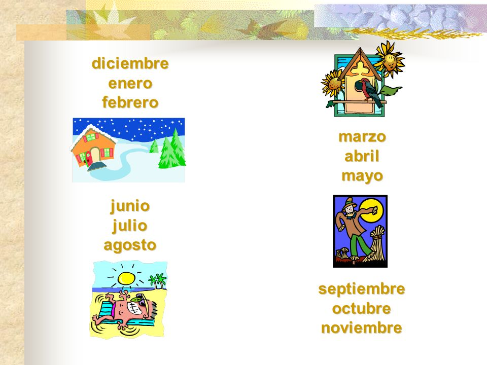 Las estaciones seasons are not articles are used with seasons, except after en la primavera is the only feminine season watch spelling / pronunciation seasons are not articles are used with seasons, except after en la primavera is the only feminine season watch spelling / pronunciation (seasons)