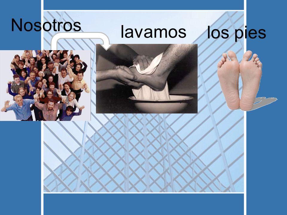 lavamos los pies Nosotros
